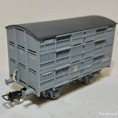 Trenes Escala: ELECTROTREN VAGÓN JAULA GANADO COLOR GRIS. Lote 288037463