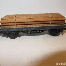Trenes Escala: ELECTROTREN VAGON PORTA MADERA-TABLONES,BUEN ESTADO,BARATO. Lote 288384453