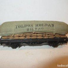 Trenes Escala: ELECTROTREN VAGON PORTA SACOS TOLDOS ROLDAN,BUEN ESTADO,BARATO. Lote 288384868