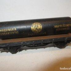 Trenes Escala: ELECTROTREN VAGON PORTA TUBO JUGUETES ANCORA DE ORO,BUEN ESTADO,BARATO. Lote 288386123