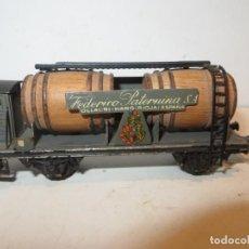 Trenes Escala: ELECTROTREN VAGON CUBAS VINOS PATERNINA CON GARITA,BARATO. Lote 288386903
