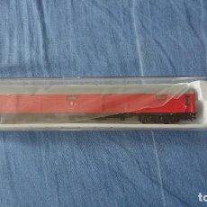 Trains Échelle: FURGON DE EQUIPAJES RENFE ROJO ELECTROTREN H0 CON LUZ DE COLA. Lote 289268978