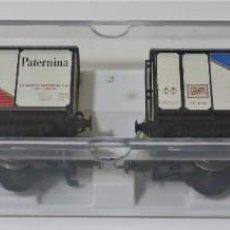 Trenes Escala: ELECTROTREN 2 VAGONES FOUDRE-PATERNINA RENFE, EDICIÓN LIMITADA, REF 009.. Lote 289827443