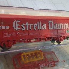 """Trenes Escala: ELECTROTREN H0 VAGÓN CERVECERO """"ESTRELLA DAMM"""" TIPO JPD. REF. 1759K . NUEVO A ESTRENAR CON SU CAJA. Lote 289877428"""