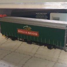 """Trenes Escala: ELECTROTREN H0 VAGÓN CERVECERO """"STELLA ARTOIS"""" .REF. 1636K . NUEVO A ESTRENAR CON SU CAJA. Lote 289877903"""
