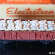 Trenes Escala: VAGÓN DE MERCANCIAS POTASA DE SURIA - ELECTROTREN HO - EN BUEN ESTADO -. Lote 293939348