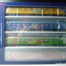 """Trenes Escala: COMPOSICIÓN """"CHARTREN"""", COCHES 15.000 ELECTROTREN NUEVA. Lote 294503493"""
