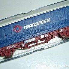 Trenes Escala: VAGON RENFE CONTENEDOR TRANSFESA ELECTROTREN ESCALA HO REF 1448K. Lote 296901413