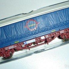 Trenes Escala: VAGON RENFE CONTENEDOR TRANSFESA ELECTROTREN ESCALA HO REF 1447K. Lote 296901463