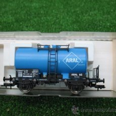 Trenes Escala: (FLEISCHMANN) VAGON MERCANCIAS CISTERNA ARAL REF: 5413K --- H0. Lote 21937148