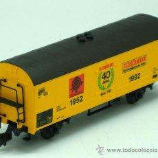 Trenes Escala: VAGÓN MERCANCIAS FLEISCHMANN ESCALA H0 1952 1992. Lote 25622841