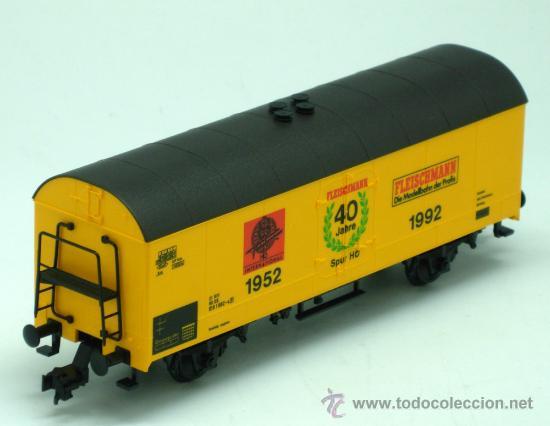 Trenes Escala: Vagón mercancias Fleischmann escala H0 1952 1992 - Foto 2 - 25622841