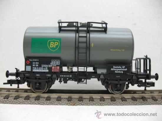 FLEISCHMANN REF:5412 K -VAGON CISTERNA DE LA BP -ESCALA H0- (Juguetes - Trenes Escala H0 - Fleischmann H0)