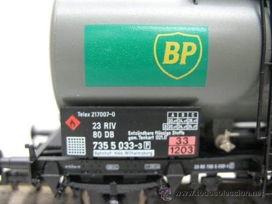 Trenes Escala: FLEISCHMANN Ref:5412 K -VAGON CISTERNA DE LA BP -ESCALA H0- - Foto 2 - 29736173