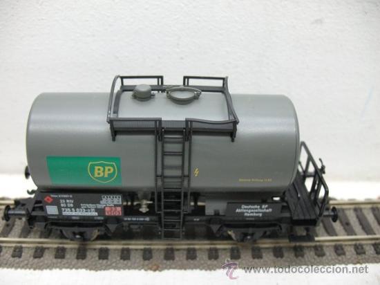 Trenes Escala: FLEISCHMANN Ref:5412 K -VAGON CISTERNA DE LA BP -ESCALA H0- - Foto 3 - 29736173