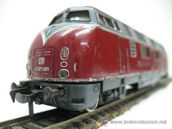 Trenes Escala: FLEISCHMANN REF: 1381- LOCOMOTORA DIESEL DE LA DB C.C ( DEUTSCHE BUNDESBAHN ) ESCALA H.0 - Foto 2 - 29748135