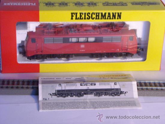 Trenes Escala: locomotora electrica escala 1/87 h0 Fleischmann 4347 BR 111 036-0 de la DB caja documentacion - Foto 21 - 32739338