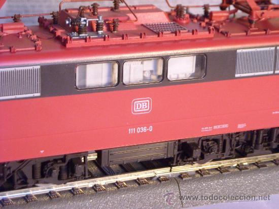 Trenes Escala: locomotora electrica escala 1/87 h0 Fleischmann 4347 BR 111 036-0 de la DB caja documentacion - Foto 3 - 32739338