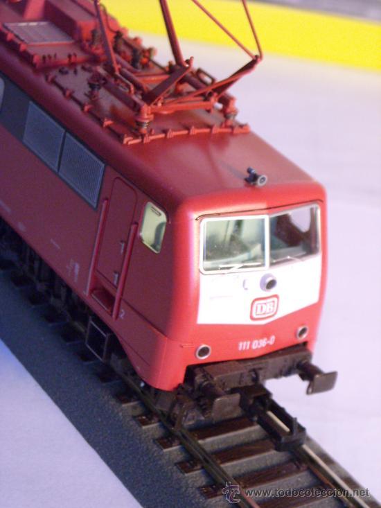 Trenes Escala: locomotora electrica escala 1/87 h0 Fleischmann 4347 BR 111 036-0 de la DB caja documentacion - Foto 5 - 32739338