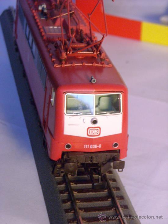 Trenes Escala: locomotora electrica escala 1/87 h0 Fleischmann 4347 BR 111 036-0 de la DB caja documentacion - Foto 6 - 32739338