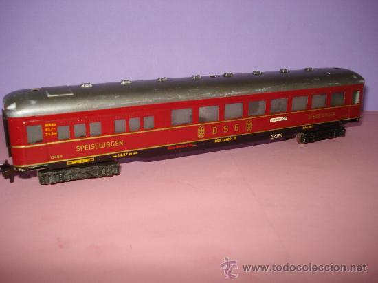 Trenes Escala: Antiguo Coche de Viajeros de la DSG Metalico Escala *H0* (1/87) de FLEISCHMANN - Foto 4 - 32999696
