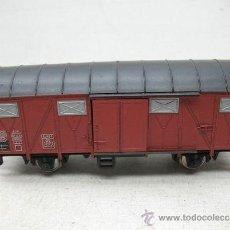 Trenes Escala: FLEISCHMANN - ANTIGUO VAGÓN DE MERCANCÍAS CERRADO METÁLICO DE LA DB - ESCALA H0. Lote 35672178