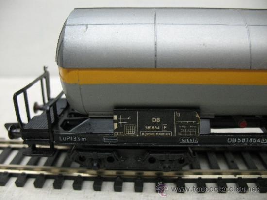 Trenes Escala: FLEISCHMANN - VAGON CISTERNA DE LA DB -ESCALA H0 - - Foto 3 - 35776945