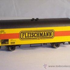 Trenes Escala: FLEISCHMANN ESCALA H0 1/87 VAGON FRIGORIFICO DE LA DB PARA CORRIENTE ALTERNA. Lote 38076171