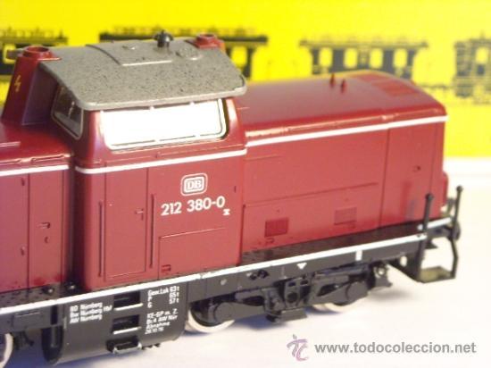 Trenes Escala: fleischmann escala h0 1/87 locomotora diesel BR 212 380 DB corriente continua - Foto 3 - 38075973