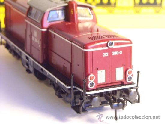 Trenes Escala: fleischmann escala h0 1/87 locomotora diesel BR 212 380 DB corriente continua - Foto 4 - 38075973