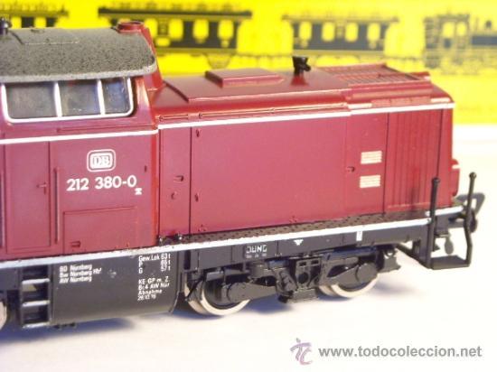 Trenes Escala: fleischmann escala h0 1/87 locomotora diesel BR 212 380 DB corriente continua - Foto 7 - 38075973