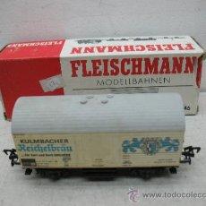 Trenes Escala: FLEISCHMANN REF: 5046 - VAGÓN DE MERCANCÍAS CERRADO KULMBACHER - ESCALA H0. Lote 38355619