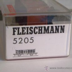 Trenes Escala: FLEISCHMANN ESCALA H0 1:87 REF 5205 VAGON MERCANCIAS ABIERTO DE LA DB. Lote 38600873