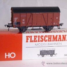 Trenes Escala: FLEISCHMANN ESCALA H0 1:87 REF 5020 VAGON MERCANCIAS CUBIERTO DE LA DB. Lote 38601112
