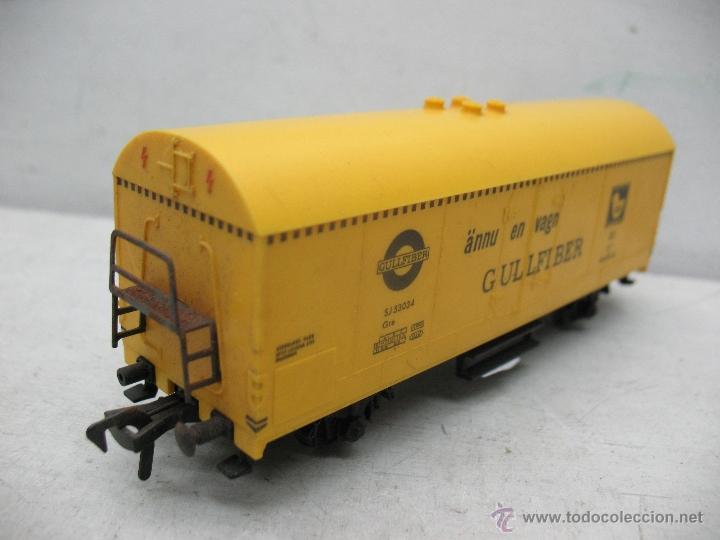 Trenes Escala: Fleischmann - Vagón de mercancías cerrado GULLFIBER - Escala H0 - Foto 2 - 40086951