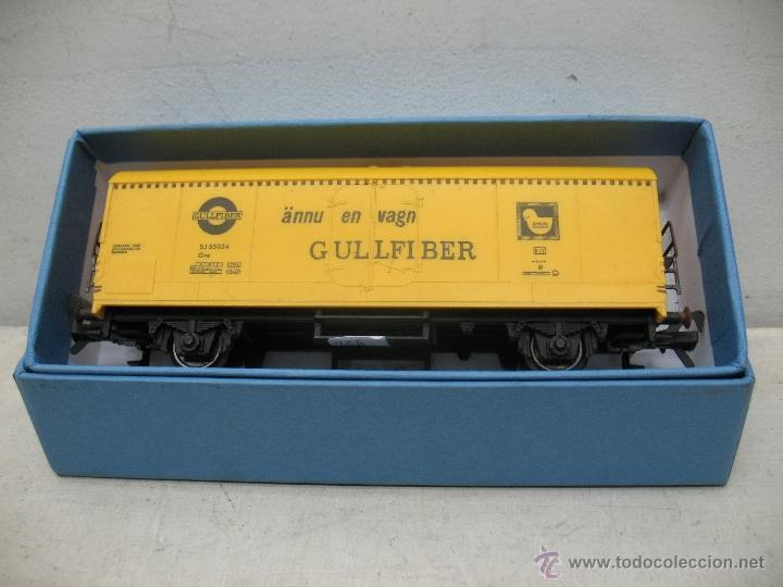Trenes Escala: Fleischmann - Vagón de mercancías cerrado GULLFIBER - Escala H0 - Foto 5 - 40086951