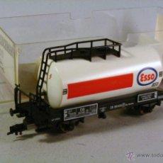Trenes Escala: FLEISCHMANN #5400. ESCALA H0. VAGÓN CISTERNA ESSO . EN SU CAJA. Lote 43252098
