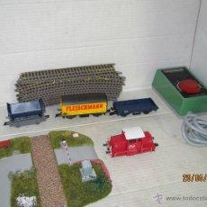 Trenes Escala: ANTIGUO SET TREN EN ESCALA *HO* CORRIENTE CONTINUA DE FLEISCHMANN. Lote 71504871