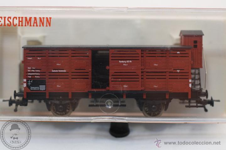 Trenes Escala: Vagón de Tren - Fleischmann 5366 - Hamburg 493 Vh - Tren Escala H0 - Caja Original - #XCT - Foto 2 - 44237789