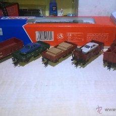 Trenes Escala: LOTE VAGONES FLEISCHMANN H0. Lote 46397558