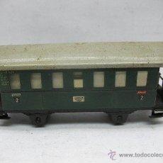 Trenes Escala: FLEISCHMANN - ANTIGUO COCHE DE PASAJEROS DE CHAPA 12140 - ESCALA H0. Lote 49333635