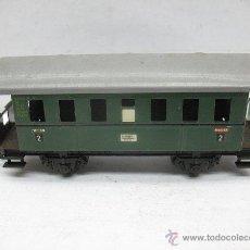 Trenes Escala: FLEISCHMANN - ANTIGUO COCHE DE PASAJEROS DE CHAPA 12140 - ESCALA H0. Lote 49333695