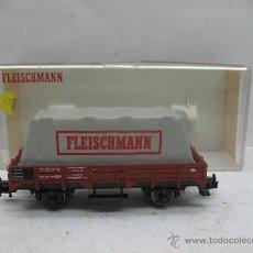 Trenes Escala: FLEISCHMANN REF: 5200 - VAGÓN DE MERCANCÍAS ABIERTO DE BORDE BAJO CON CARGA - ESCALA H0. Lote 50230015