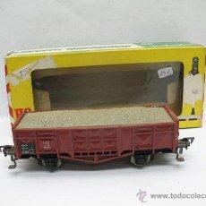 Trenes Escala: FLEISCHMANN REF: 1455 - VAGÓN DE MERCANCÍAS ABIERTO CON CARGA DE LA DB - ESCALA H0. Lote 50941943