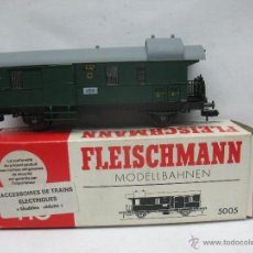 Trenes Escala: FLEISCHMANN REF: 5005 - FURGÓN 117 506 VERDE - ESCALA H0. Lote 51519899
