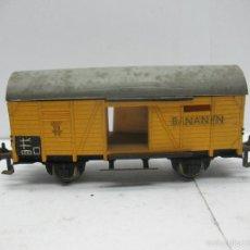 Trenes Escala: FLEISCHMANN - VAGÓN DE MERCANCÍAS CERRADO BANANEN DE LA DB - ESCALA H0. Lote 56076477