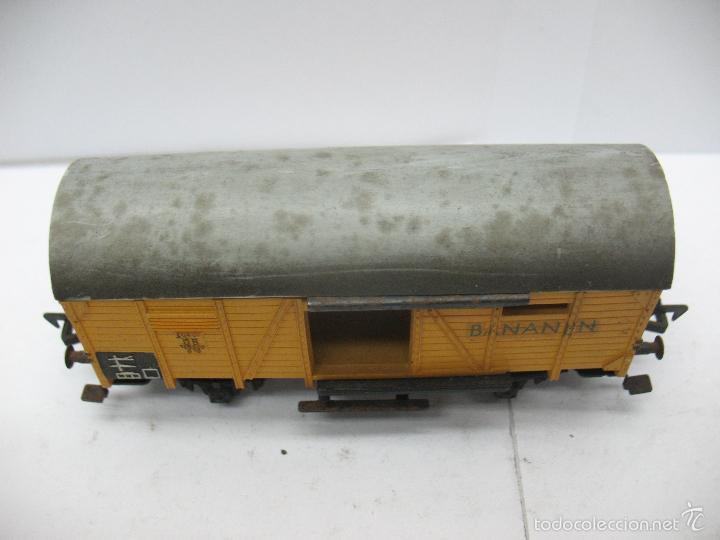 Trenes Escala: Fleischmann - Vagón de mercancías cerrado BANANEN de la DB - Escala H0 - Foto 2 - 56076477