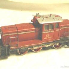 Trenes Escala: LOCOMOTORA DIESEL FLEISCHMANN V60 1009 DE LA DB. Lote 58645627