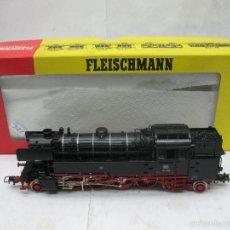 Trenes Escala: FLEISCHMANN REF: 1165 - LOCOMOTORA DE VAPOR DE LA DB 65018 CORRIENTE ALTERNA - ESCALA H0. Lote 103600748