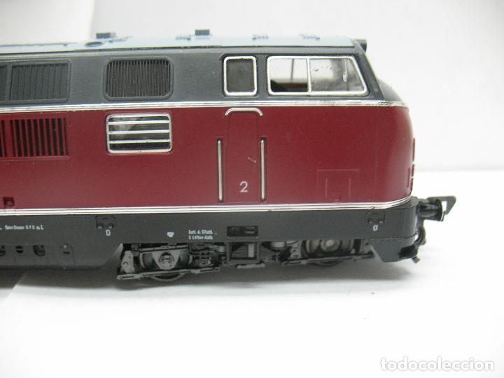 Trenes Escala: Fleischmann Ref: 4235 - Locomotora Diesel de la DB 221 131-6 corriente continua - Escala H0 - Foto 5 - 61728840